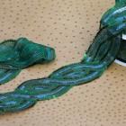Galon paillettes indien vert