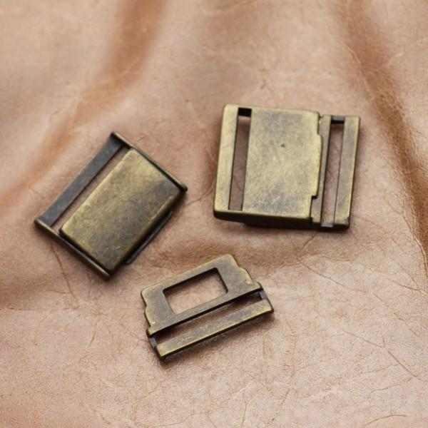 f9c64a43c3fd Boucle à clips rectangulaire H - bronze- - StandMercerie