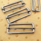 Boucle étrier plate -soudé- rectangle coulissant 5 cm