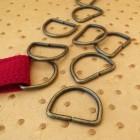 Boucle étrier demi ronde -non soudé- en bronze 3 cm