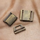Boucle à clips rectangulaire H - bronze-