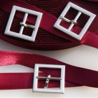 Boucle ceinture carrée - argenté