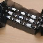 Galon tulle perlé - noir